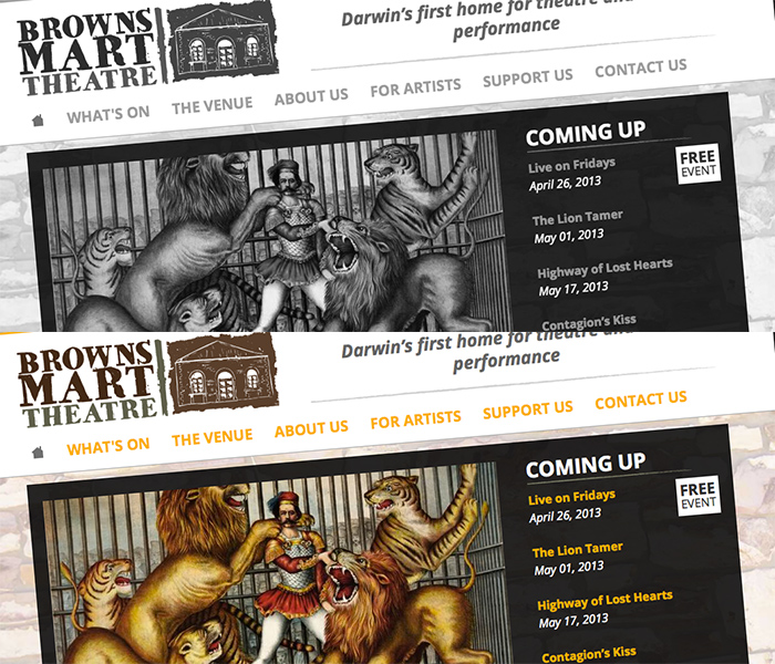 Website screenshot of brownsmart.com.au